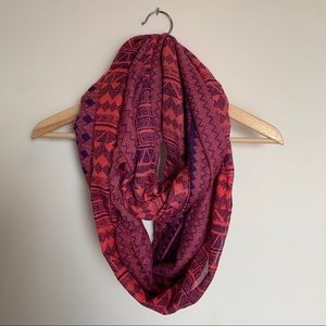 Dynamite Aztec print pink infinity scarf